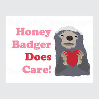Honey Badger Printable Valentine Card