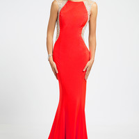 Cap Sleeve Fitted Gown