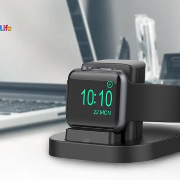 Apple Watch 1 2 Nike+ Stand Charger Nightstand Mode Charging Dock Holder Cradle