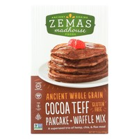Zemas Madhouse Food Pancake And Waffle Mix - Cocoa Teff - Case Of 6 - 9.63 Oz.