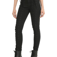 Tripp Lace-Up Front Black Jeans