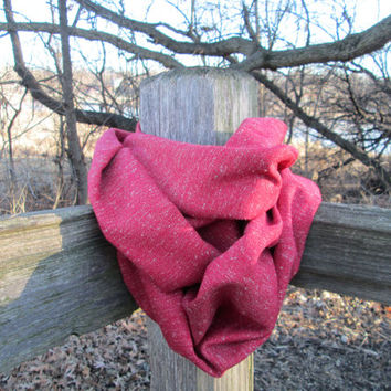 SALE! Great for Valentine's Day! Red Infinity Scarf