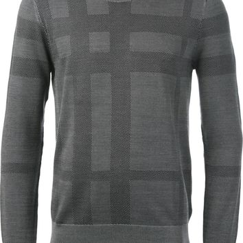 Burberry London check print sweater