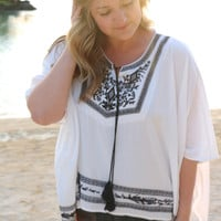 Touch of Bohemian Embroidered Top