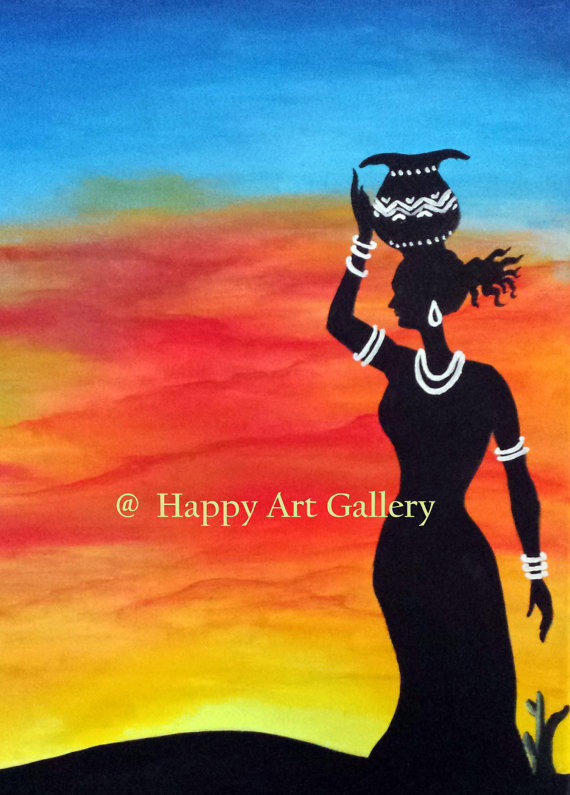 Desert Girl At Sunset Desert Landscape From