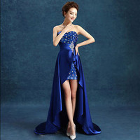 New Sexy Long Lace Cocktail Evening Formal Party Prom Gown Bridesmaid Dress
