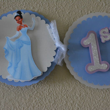 Princess Tiana Banner in Blue