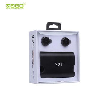 2017 Sago bluetooth earphone X2T earbuds mini true wireless earphone with charger box Bluetooth 4.2 headphone for iphone android