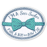 Lauren James Seersucker For A Boy Sticker