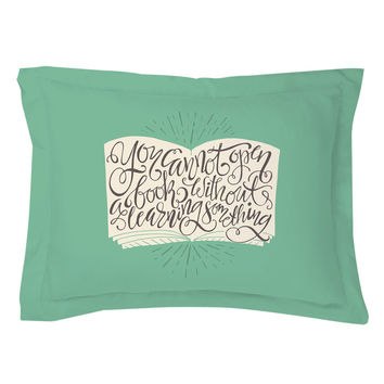 Open Book Pillow Shams