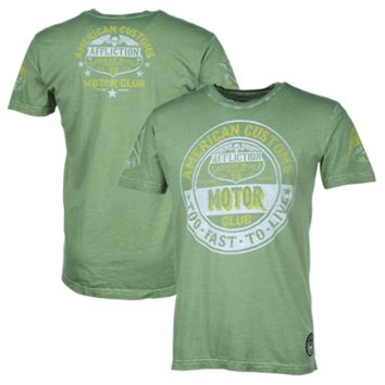 Affliction American Customs Series Goods T-Shirt - Green