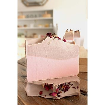 Raspberry Rose Hibiscus Tea Handcrafted Soap Bar