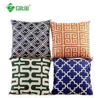 Cotill Cotton Linen Cushion Home Deacor 45X45cm Almofada Plain Striped Cojines Decorative Pillows For Sofa Throw Pillow
