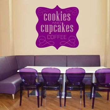 ik2015 Wall Decal Sticker inscription letters cakes cupcakes bakery cafe
