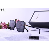 GUCCI 2019 new small bee square men and women fashion polarized sunglasses #5