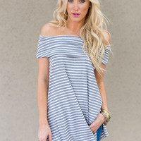 Off-The-Shoulder Strolling Along Tunic