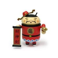 "Android Mini Collectible Figure 3"" Exclusive Limited Asia Edition Chinese New Year 2011 God of Wealth Toy"