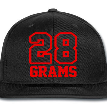 28 GRAMS RED snapback