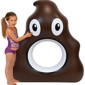 "Inflatable Pool Floats; 53"" Emoji Pool Raft, Over 4 Ft"