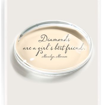 Diamonds Are A Girl's Bestfriend Crystal Oval Paperweight