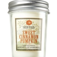 Sweet Cinnamon Pumpkin 6 oz. Mason Jar Candle   - Slatkin & Co. - Bath & Body Works