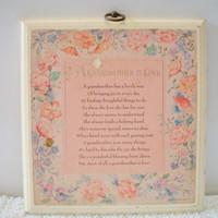 Vintage Hallmark A Grandmother Is Love Plaque Retro 1981 Wall Decor Grandparent's Day