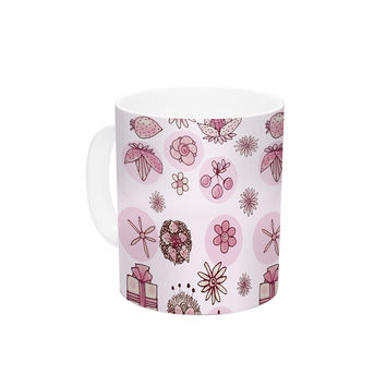 "Marianna Tankelevich ""Cute Stuff"" Pink Illustration Ceramic Coffee Mug"