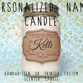Personalized Candle,Name Gift,Bridesmaid Gift,Brother Gift,Baby Shower Gift,Custom Candle,Gift for Mom,Birthday,Wedding candle,Custom Name