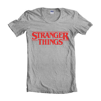 Stranger Things Red women short sleeves t-shirt tee