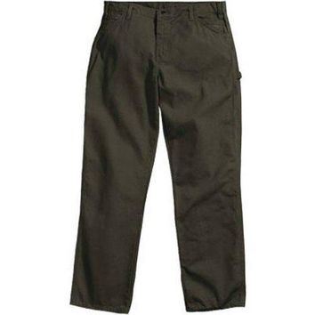 "Dickies 1939RMS3234 Men's Relaxed Fit Carpenter Duck Jeans, 32""x34"", Moss Green"
