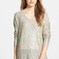Women's DKNYC Sequin High/Low Pullover