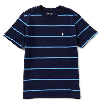Ralph Lauren Childrenswear Little Boys 2T-7 Short-Sleeve Striped Jersey Tee | Dillards