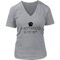 A Rottweiler Is My BFF V-Neck TShirt