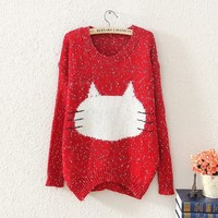 Here Kitty Kitty Soft Wool Sweater