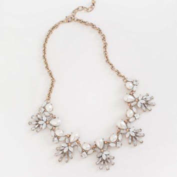 Eve Pearl Crystal Statement Necklace