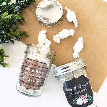 Personalized Floral Garden Mini Mason Jars