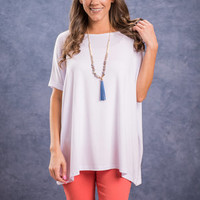 Show Your Soft Side Piko Top, White