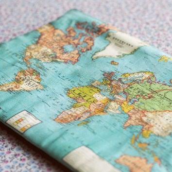 The world map small zipper pouch coin purse.Custom World Map Make Up Bag.World Map case..Vintage map purse.Travel bag.Old map print bag.