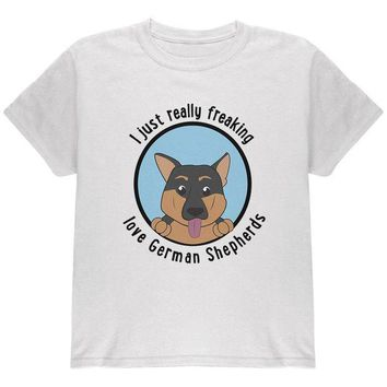 LMFCY8 I Just Love German Shepherds Dog Youth T Shirt