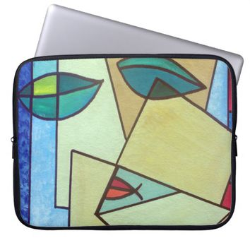 Abstract Face Laptop Sleeve