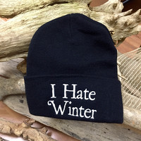 Jac Vanek // I Hate Winter Beanie