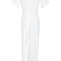 Rosie Assoulin Full-Length Shirt Dress White