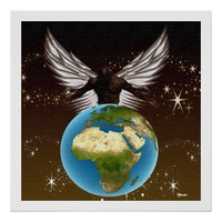 African Guardian Angel Poster