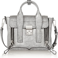 3.1 Phillip Lim - The Pashli mini metallic textured-leather trapeze bag