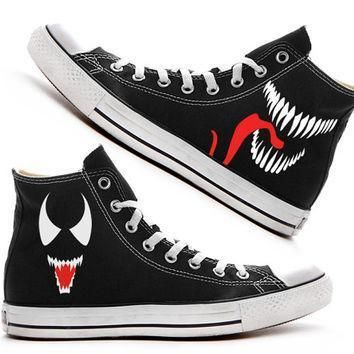 venom custom converse painted shoes