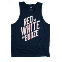 Rowdy Gentleman Red, White, and Booze Tank Top