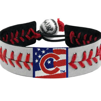 Chicago Cubs Reflective Baseball Bracelet