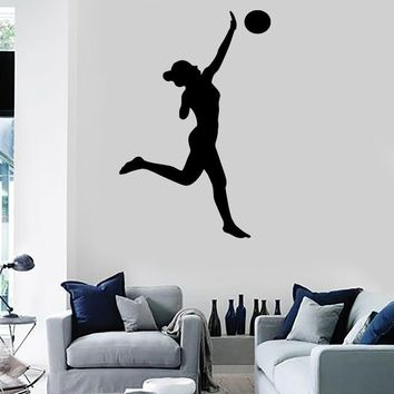 Wall Stickers Volleyball Ball Sports Game Girl Beat Paz Vinyl Decal Unique Gift (ed428)