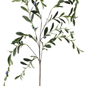 """Artificial Olive Leaf Weeping Branch - 63"""" Tall"""