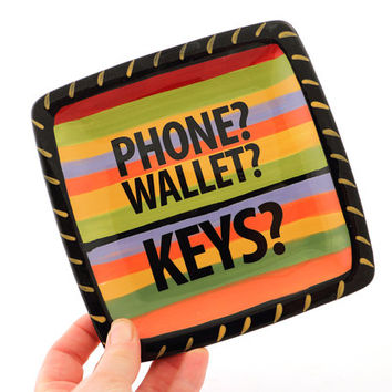 Hello is it keys you're looking for , key plate , gift for him , multicolored , phone wallet change tray , Fathers Day Gift